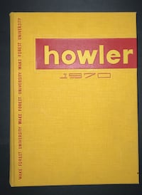 """1970 """"Howler"""" Wake Forest University Yearbook  Wake Forest, 27587"""