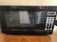 Black counter top microwave