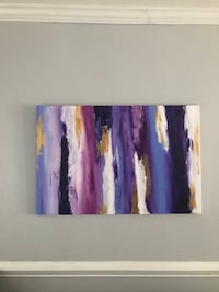 Purple and blue abstract painting Baltimore, 21214