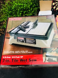 Craftsman 7 in tile wetsaw Fairfax Station, 22039