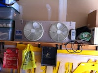 Industrial water cooled chiller fan