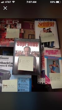 DVD's 3's & 4 pack ER, Seinfeld, Sopranos, Buns of Steel ($15.00 each). Skokie, 60077