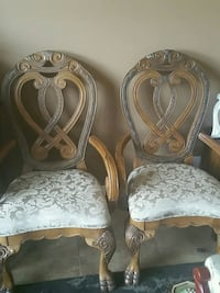 His and hers matching antique chairs
