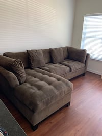 (Negotiable) High End Cindy Crawford Coffee Sectional Elkridge, 21075