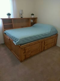 Ful size captains bed with side head board Phoenix