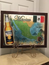 Collectible Bar Mirror,Map Of Mexico(Price Not Negotiable) Pick Up) Summerville, 29486