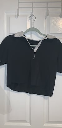 Black Cropped Collared T-Shirt Oakville, L6J 7E1