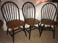 3 wooden chairs Hagerstown, 21740