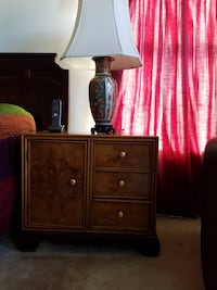 Brown wooden nightstand- antique Ashburn, 20147