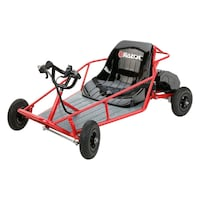 Red and black dune buggy 596 mi