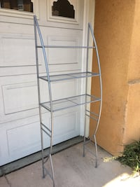 "Over the toilet shelf.  24.5"" wide, 5'6"" tall.   Good condition, needs cleaning. San Marcos, 92078"