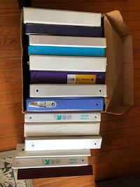 Binders; different sizes Centreville, 20121