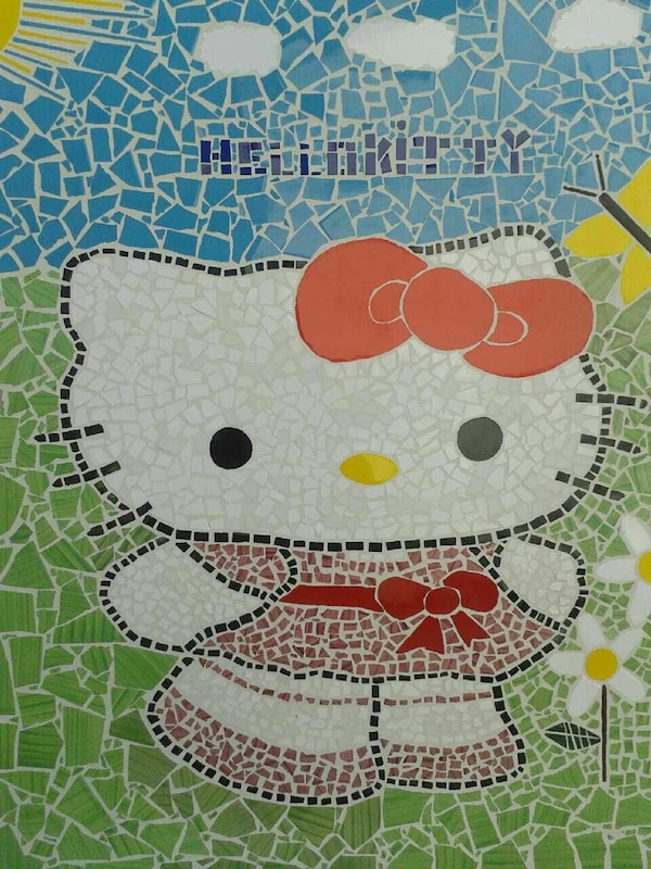 Obra de mosaico de Hello Kitty