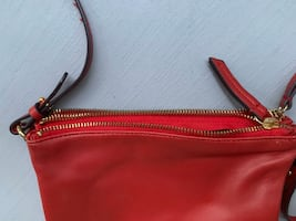 Old Navy Red Leather Hand Bag