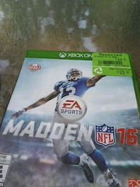 Madden NFL 16 Xbox One game case Regina, S4T 3X4