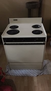 white and black electric coil range oven Hampden, 04444