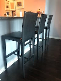 Crate and Barrel Leather Barstools (Retail: $1,587)