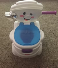 white and blue Fisher-Price potty trainer Edmonton, T5E 5R6