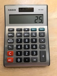 Casio Tax and Currency Calculator 8-Digit LCD
