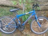 blue and white Schwinn hardtail mountain bike Gray, 37615