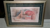 Large abstract picture gold frame Kitchener, N2K 4J7