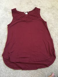 Burgundy tank top (H & M) - size S  New Tecumseth, L9R