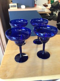 4 Cobalt Blue margarita Glasses Baltimore, 21236