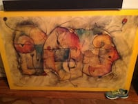 Enamel finished abstract painting 5 feet x 3 feet Von Ormy, 78073