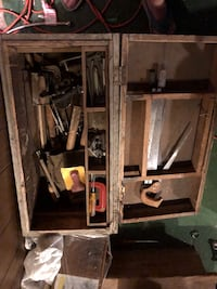 Old tool box with Tools. Comes with all the tools and the box in the picture   Bowie, 20715