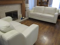 Three piece white sofa set TORONTO
