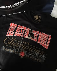 Raptors OVO Championship Shirt - Medium Toronto