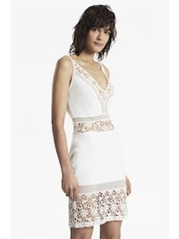 French Connection White Classy Dress Newmarket, L3Y