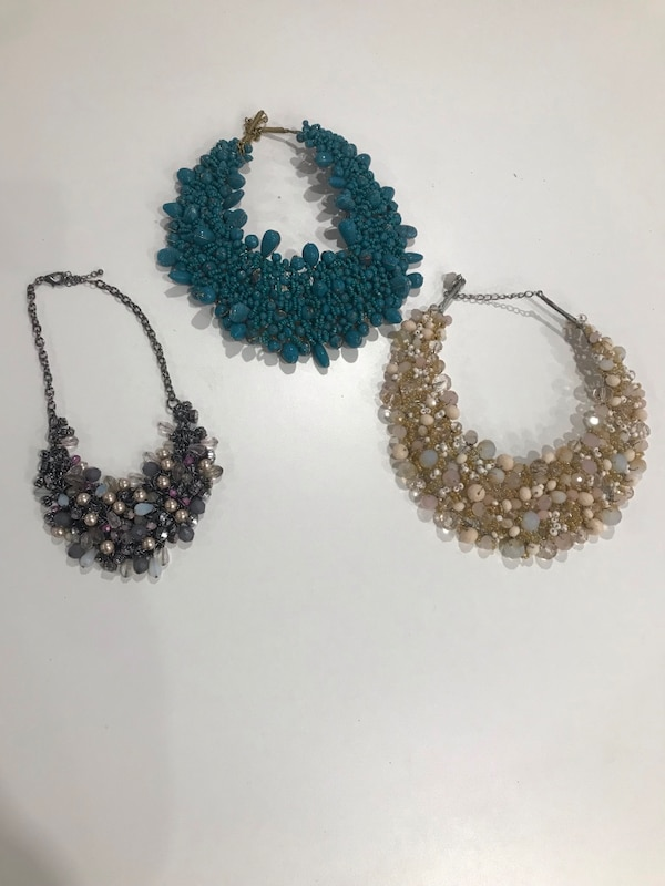 Necklaces sold as a package or individually.