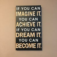 Inspirational Quote Decor Canvas Painting