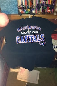 black and blue Washintong 2008 Capitals crew-neck shirt Olney, 20832