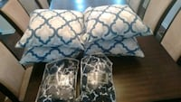 two white-and-blue floral padded chairs Upper Marlboro, 20772