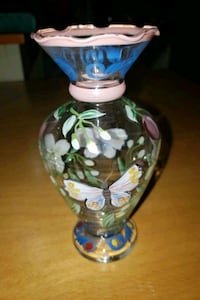 Beautiful hand-painted mini vase butterfly