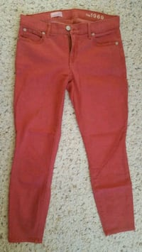 GAP size27p jeggings red Jersey City, 07304