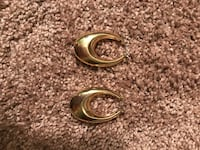 Gold-plated hoop earrings Cambria, 15931