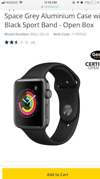 Apple Watch 3, only a couple of months old , come with everything and even 4 different colours wristbands . Msg for more information and pictures  538 km