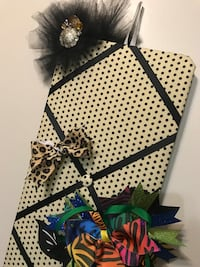 Fabric and Ribbon Flower Hair Bow Hairbow Headband Holder *Still available* Front Royal, 22630