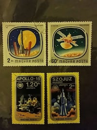 four postage stamps Palmdale, 93551