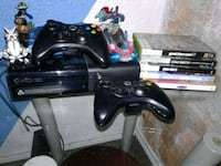 black Xbox 360 console with controllers San Benito, 78586