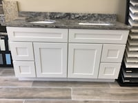 "New 60"" vanity with sinks and granite top Arlington, 22202"