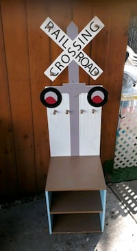Kids Railroad Crossing Coat Rack an Shoe storage