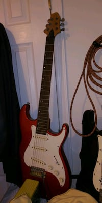 red and white stratocaster electric guitar Gaithersburg, 20877