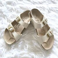 Papillio by Birkenstock Sydney Leather Sandals in Pearl White 46 km