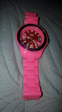 ICE Ladies Quartz Watch Solid Pink Watch - Like New Condition Calgary