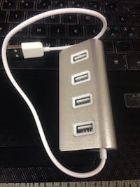 4-Port USB 3.0 hub 5gbps aluminum portable