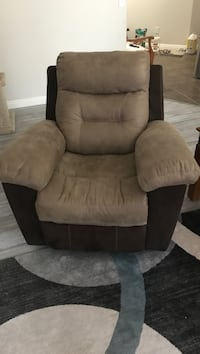 brown and black fabric sofa chair Henderson, 89074